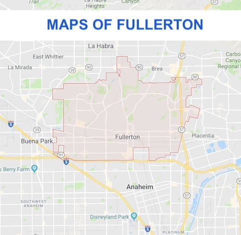 cal state fullerton university map