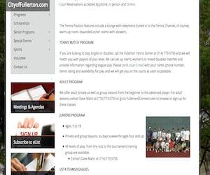 City Of Fullerton Tennis Lessons