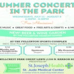 Summer Concerts Fullerton in the park