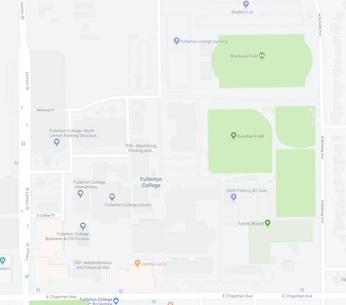 FULLERTON COLLEGE MAPS
