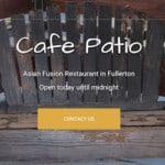 Cafe Patio Fullerton