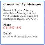 Robert P Taylor fullerton lawyer