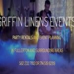 Party Rentals of Fullerton Griffin Linens