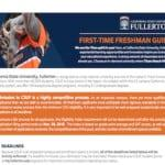 Cal State Fullerton Admission Requirements